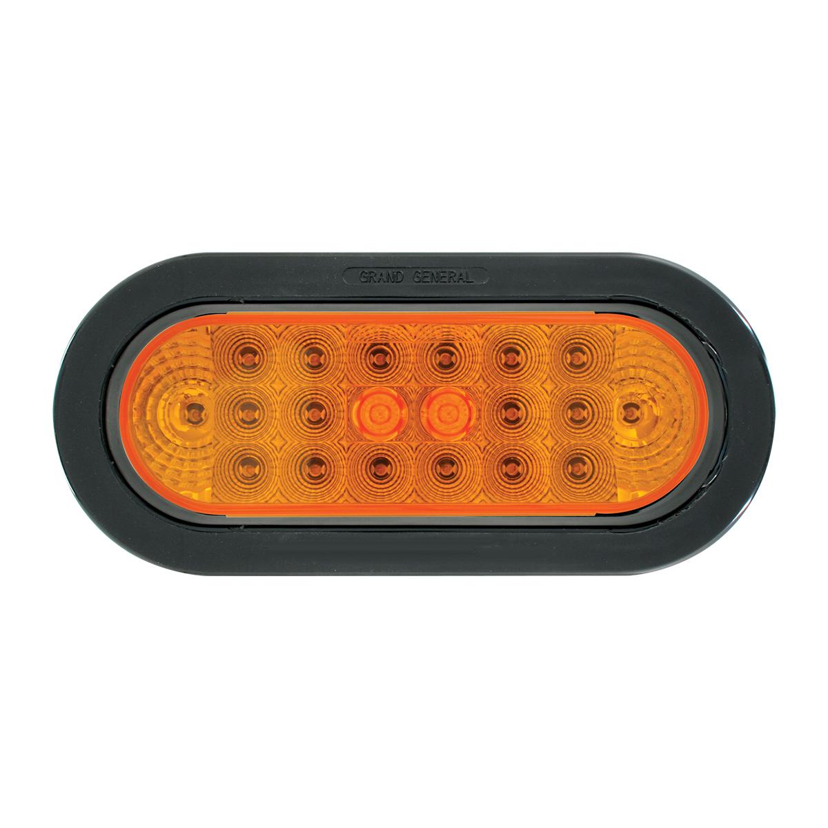 77040 Oval Spyder LED Light w/ Black Rubber Grommet