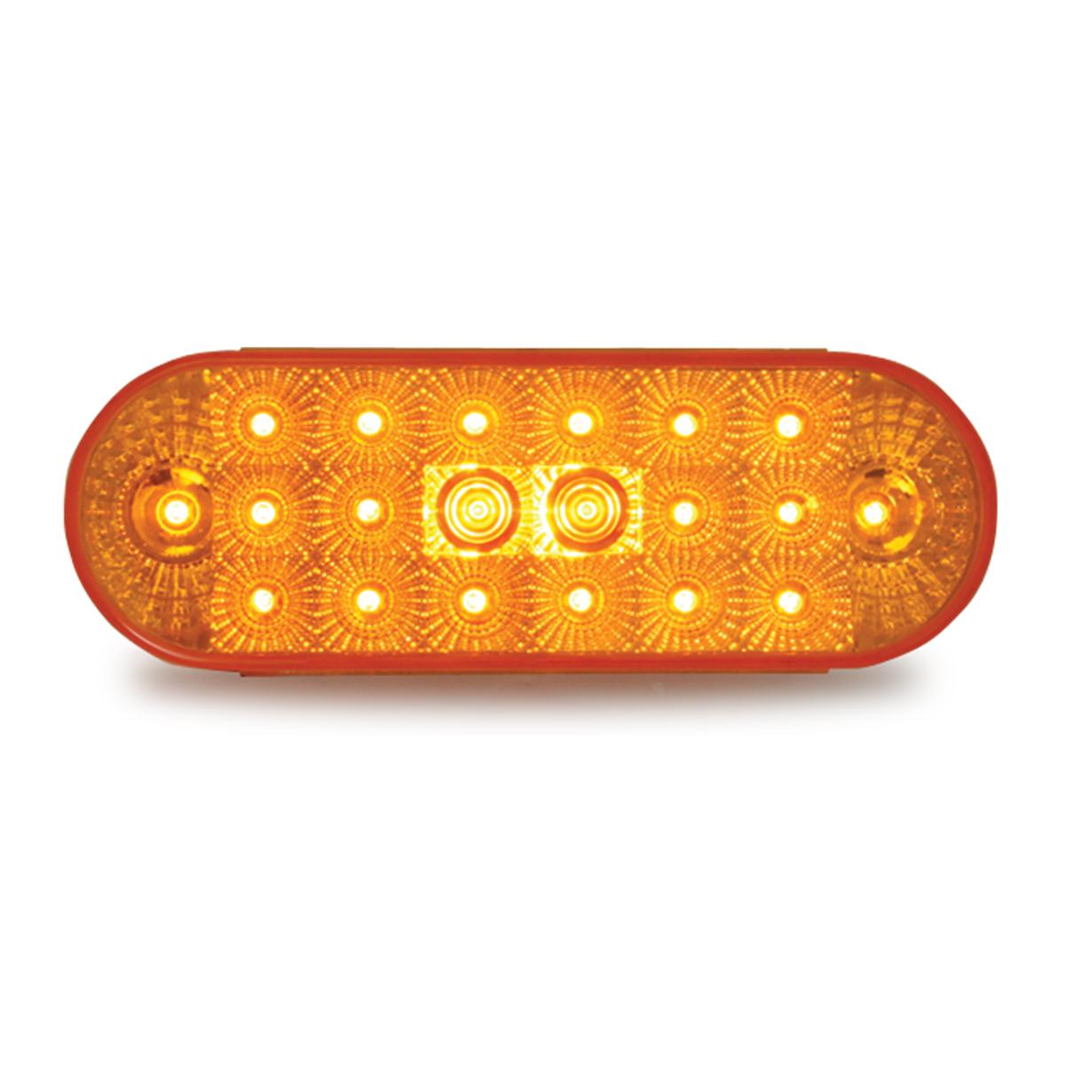77050 Oval Spyder LED Light in Amber/Amber