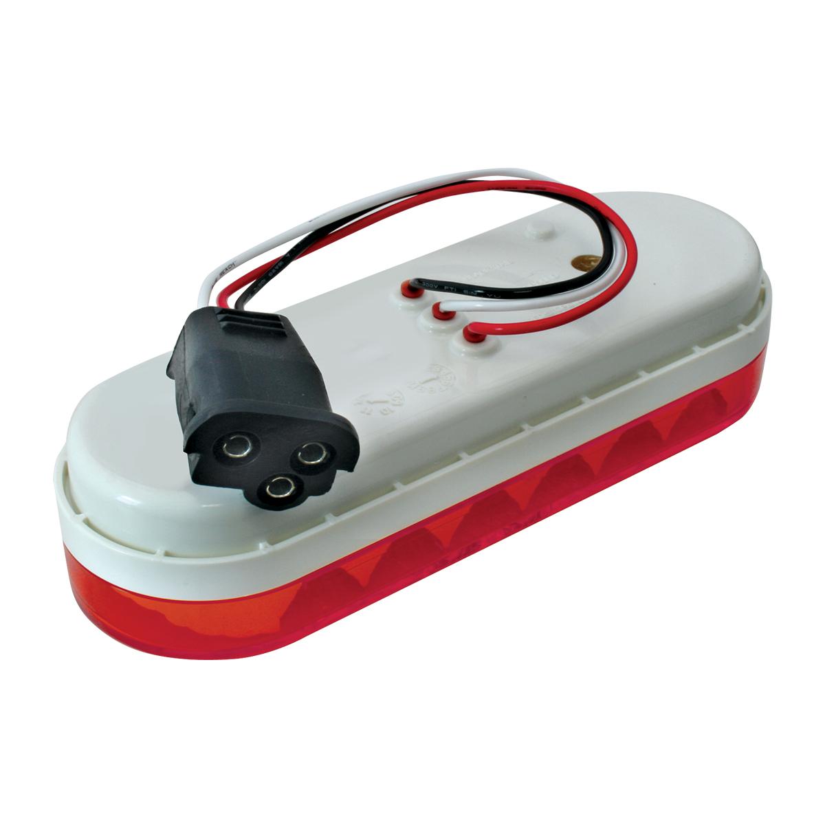 77053 Oval Spyder LED Light in Red/Red