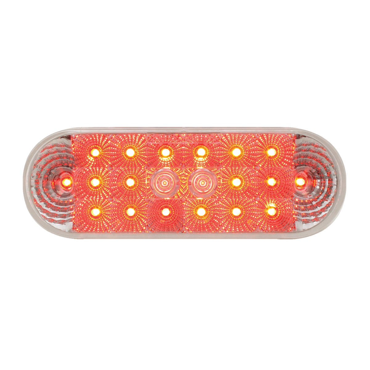 77054 Oval Spyder LED Light in Red/Clear