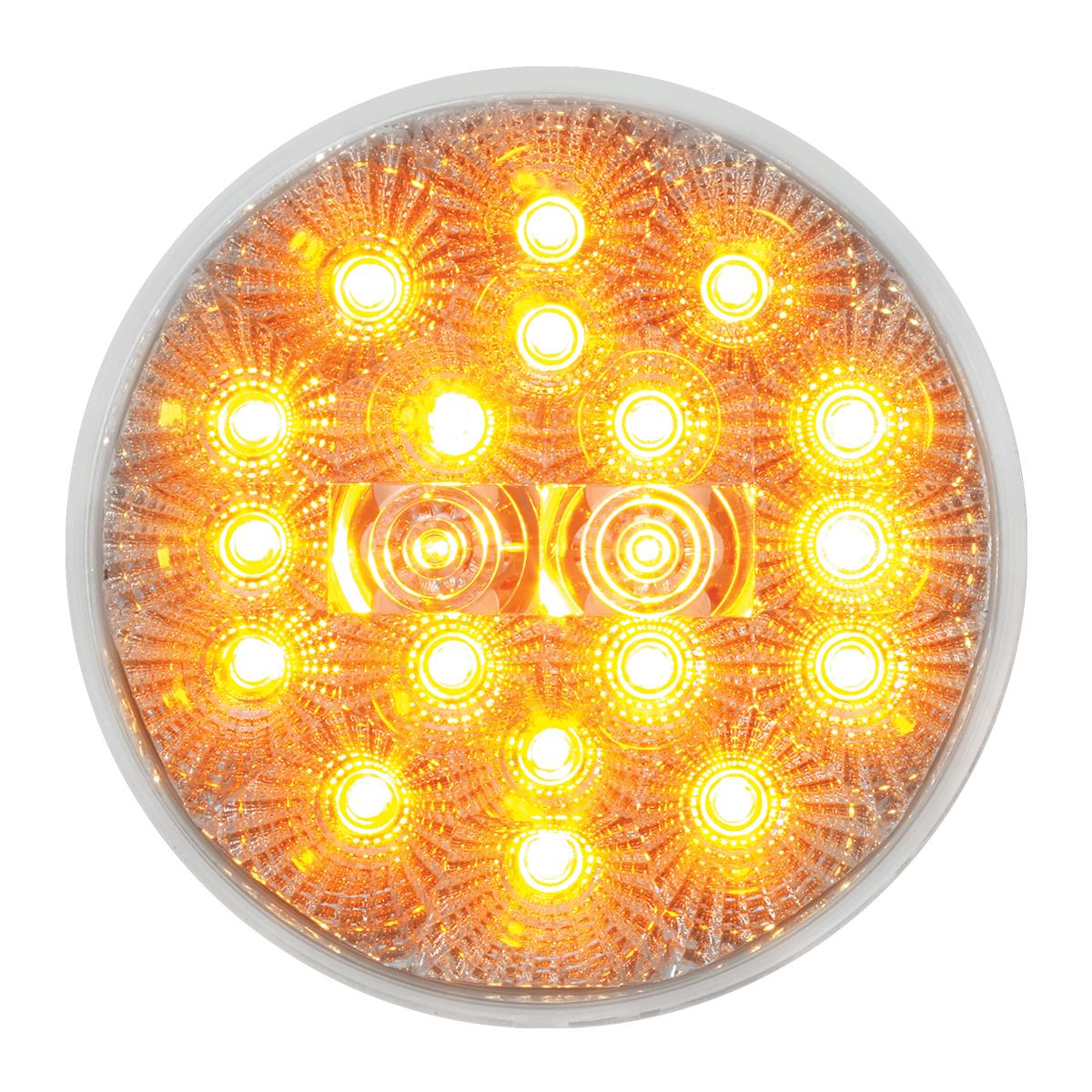 "77091 4"" Spyder LED Light in Amber/Clear"