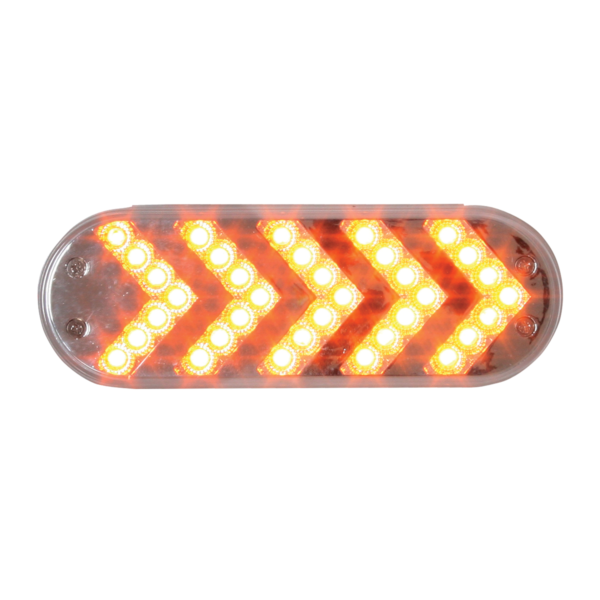 77125 Oval Sequential Arrow Spyder LED Light in Amber/Clear