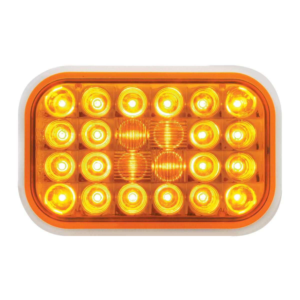 77180 Rectangular Pearl LED Light in Amber/Amber