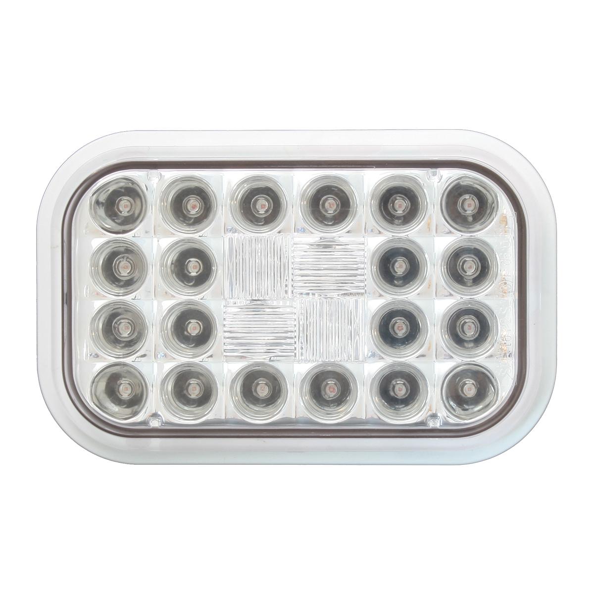 Rectangular Pearl LED Light in Clear Lens
