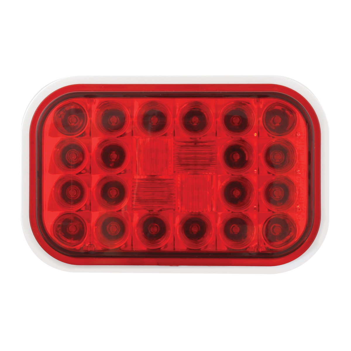 77182 Rectangular Pearl LED Light in Red/Red