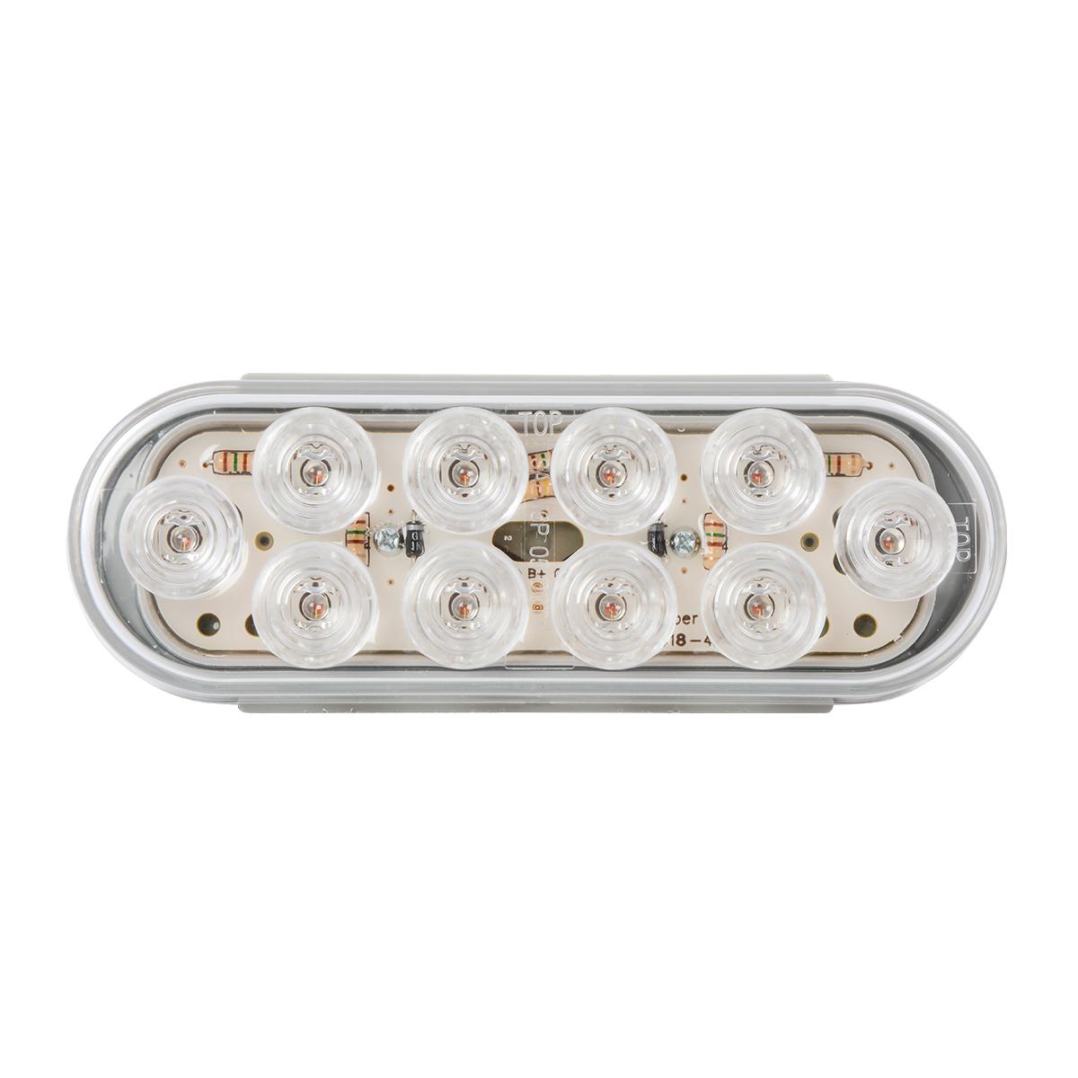 Oval Mega 10 LED Light in Clear Lens