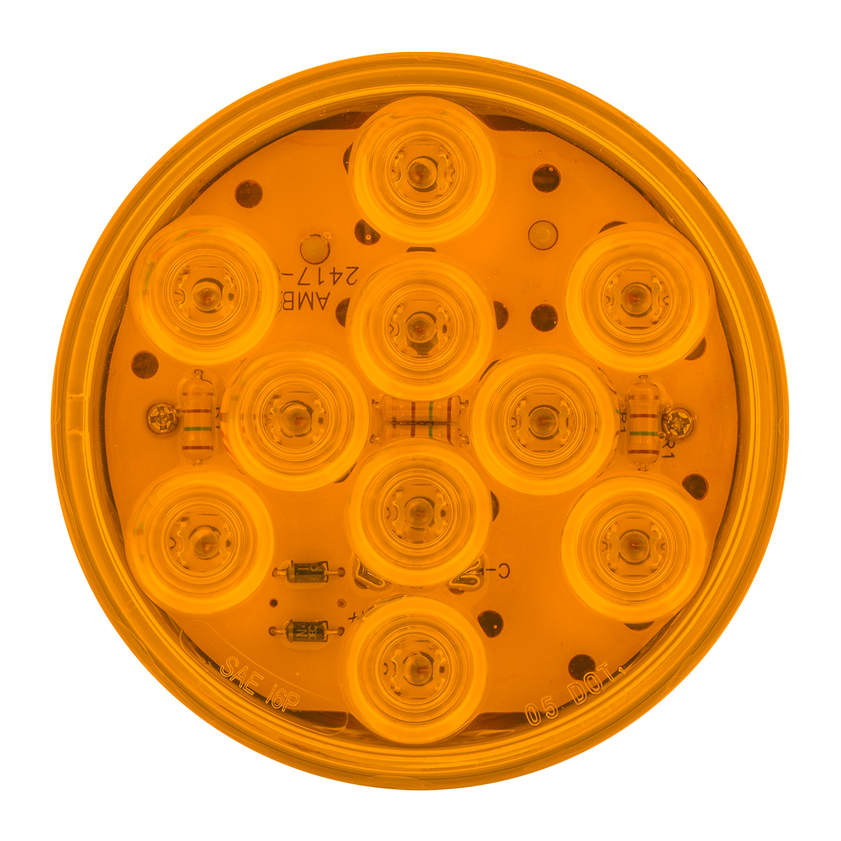 """77450 4"""" Mega 10 LED Light in Amber/Amber"""