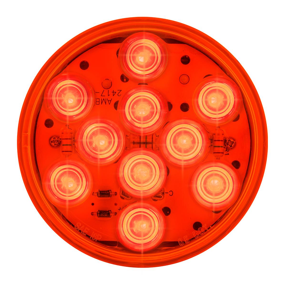 """77452 4"""" Mega 10 LED Light in Red/Red"""