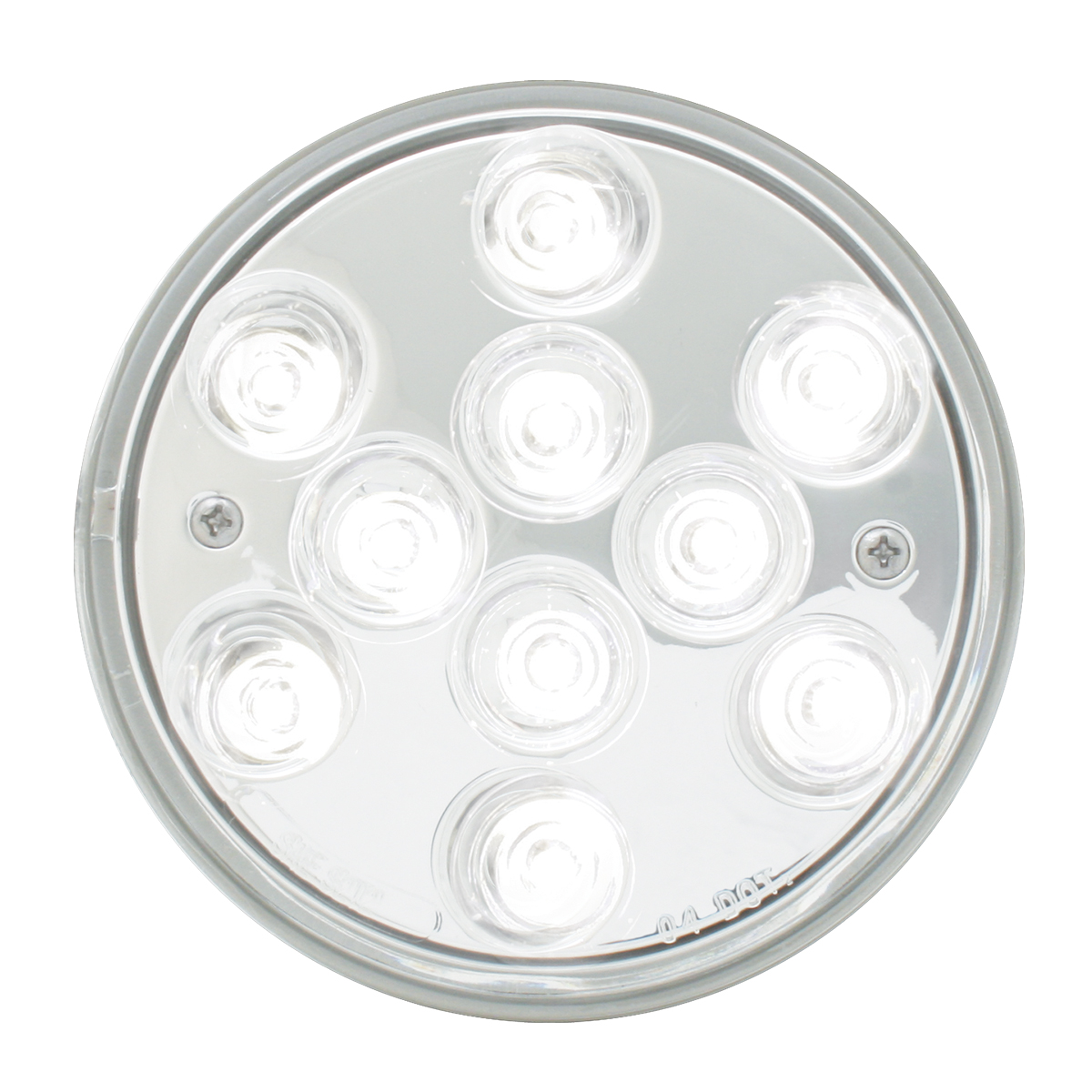 "77458 4"" Mega 10 Plus LED Light in White/Clear"