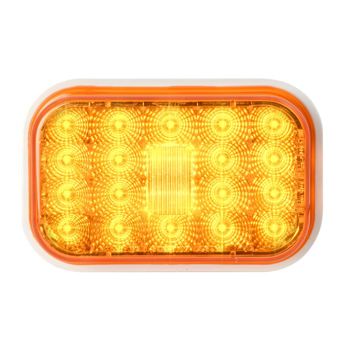 77460 High Profile Rectangular Spyder LED Light in Amber/Amber