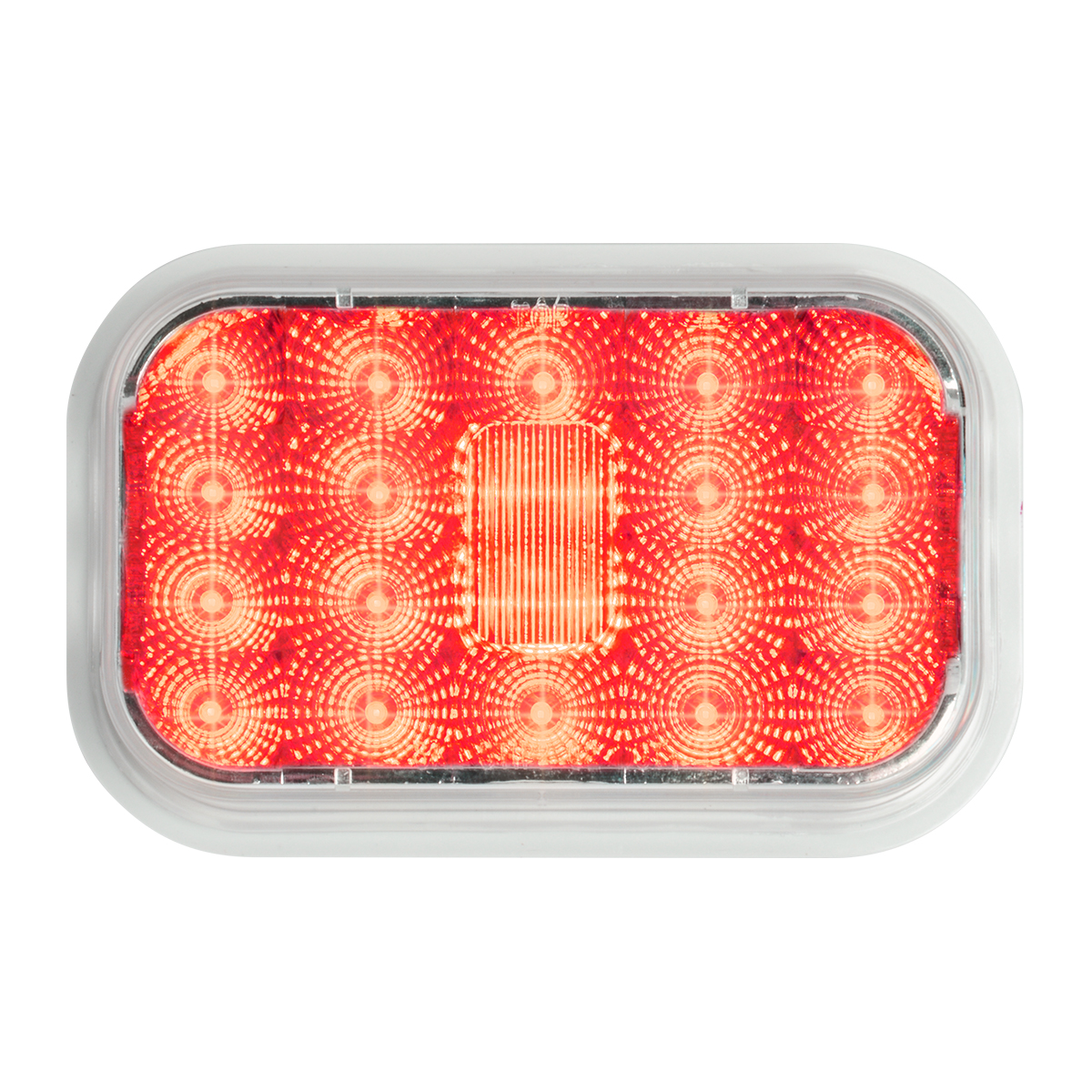 77464 High Profile Rectangular Spyder LED Light in Red/Clear