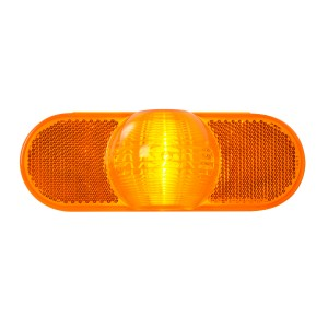 Oval Full Moon Side Turn and Marker Light with Reflector