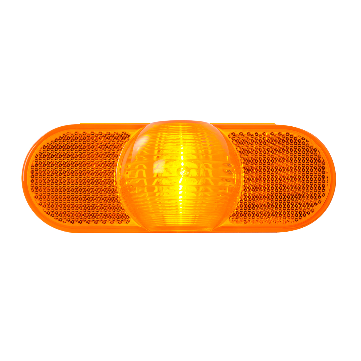 #77942 Oval Full Moon Side Turn Light with Reflector - Amber Lens Only