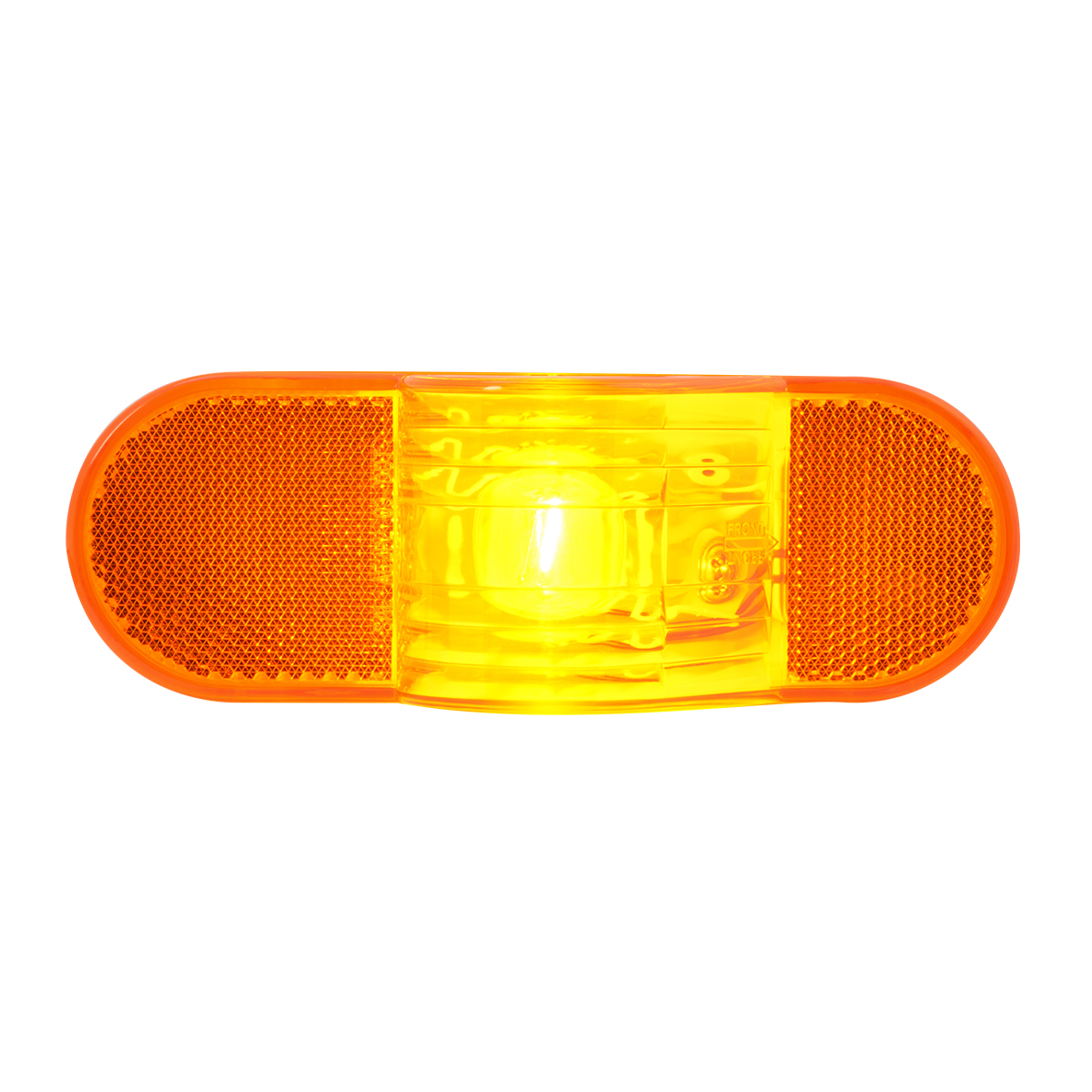 #80703 Oval Side Turn and Marker Light with Reflector - Amber Lens Only