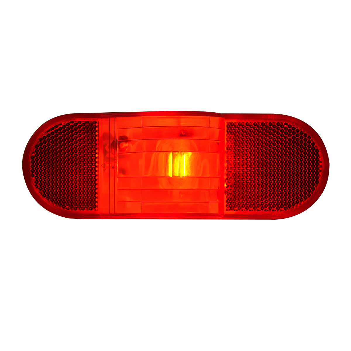 #80704 Oval Side Turn and Marker Light with Reflector - Red Lens Only