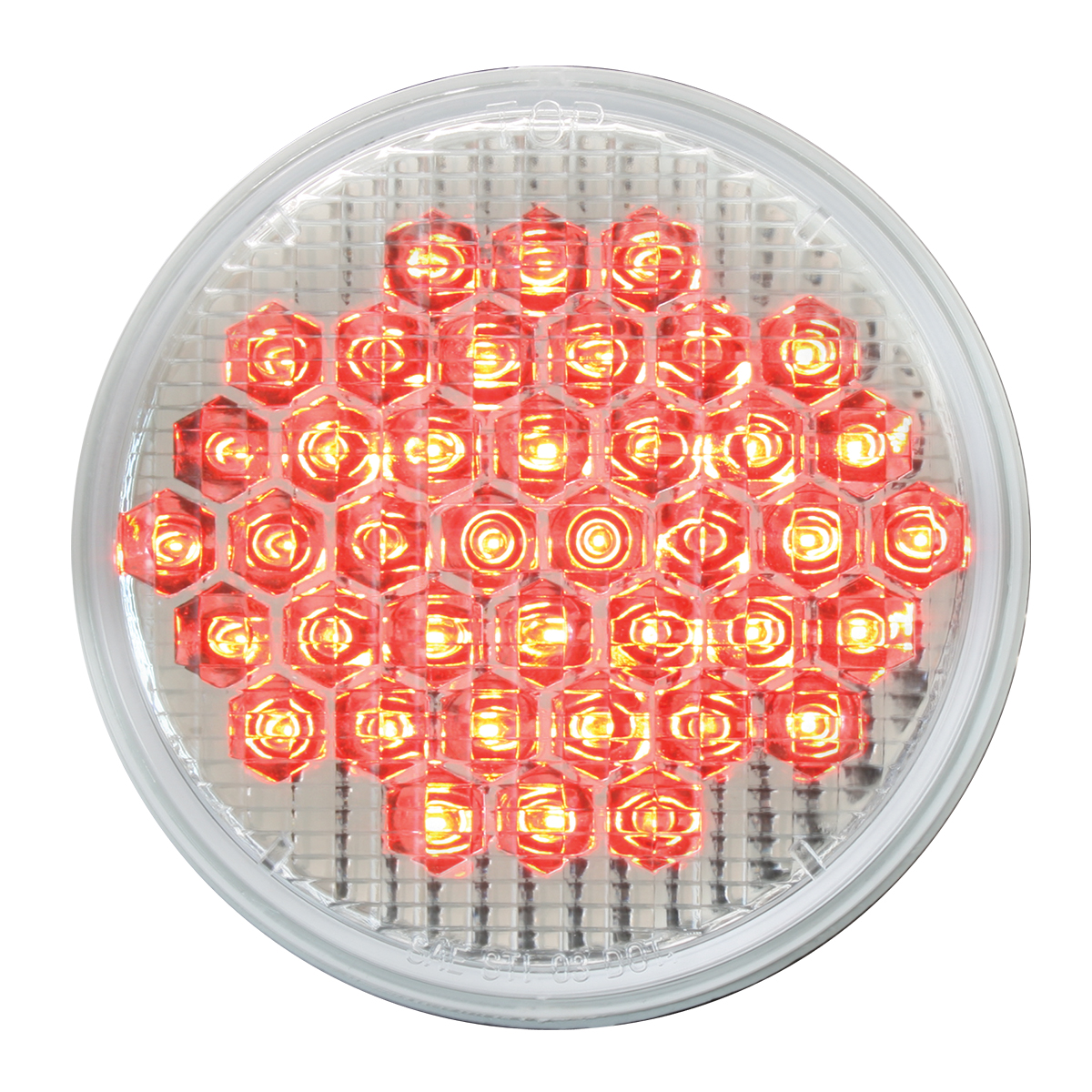 """87706 4"""" High Count LED in Red/Clear"""