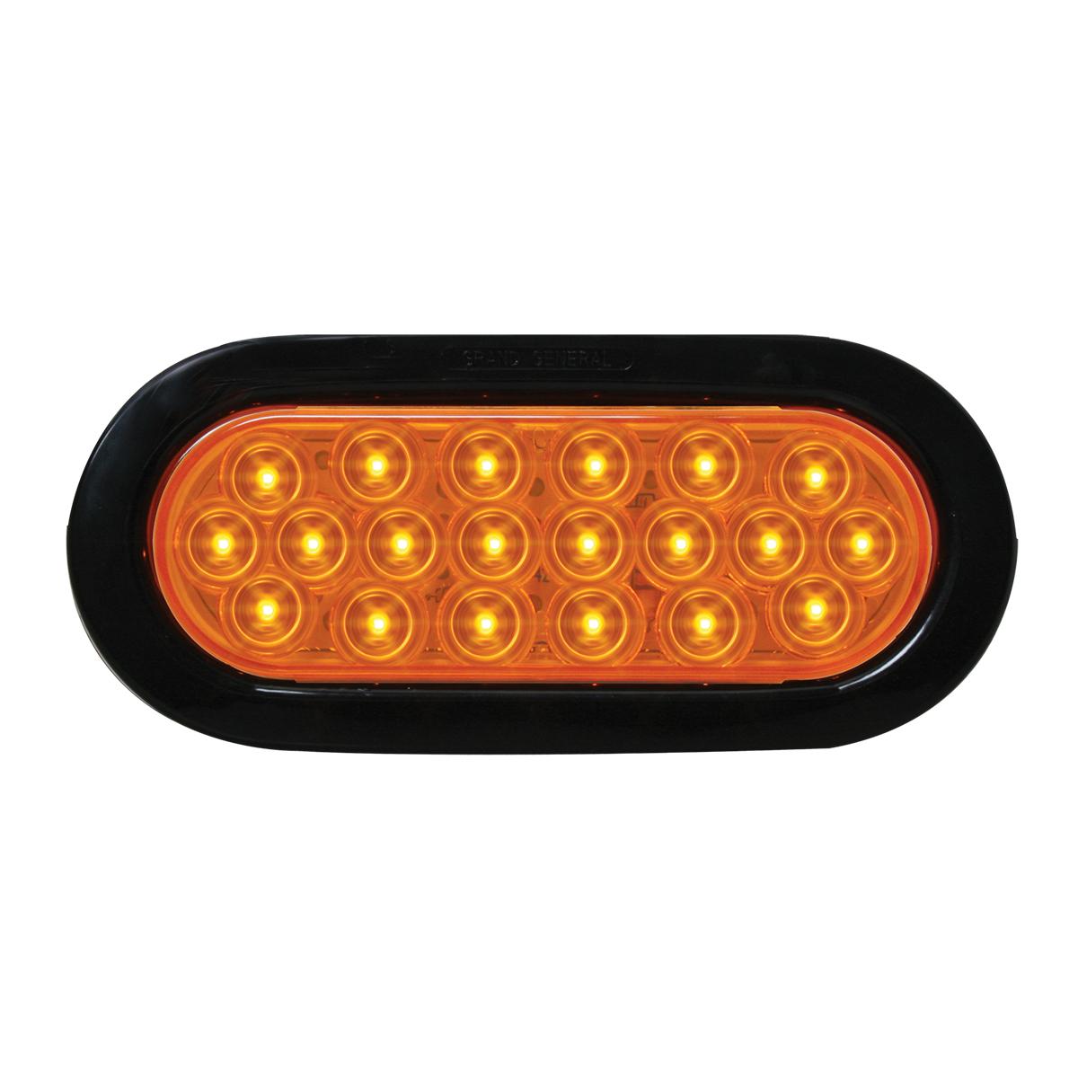 87722 Oval Fleet LED Light w/ Black Rubber Grommet