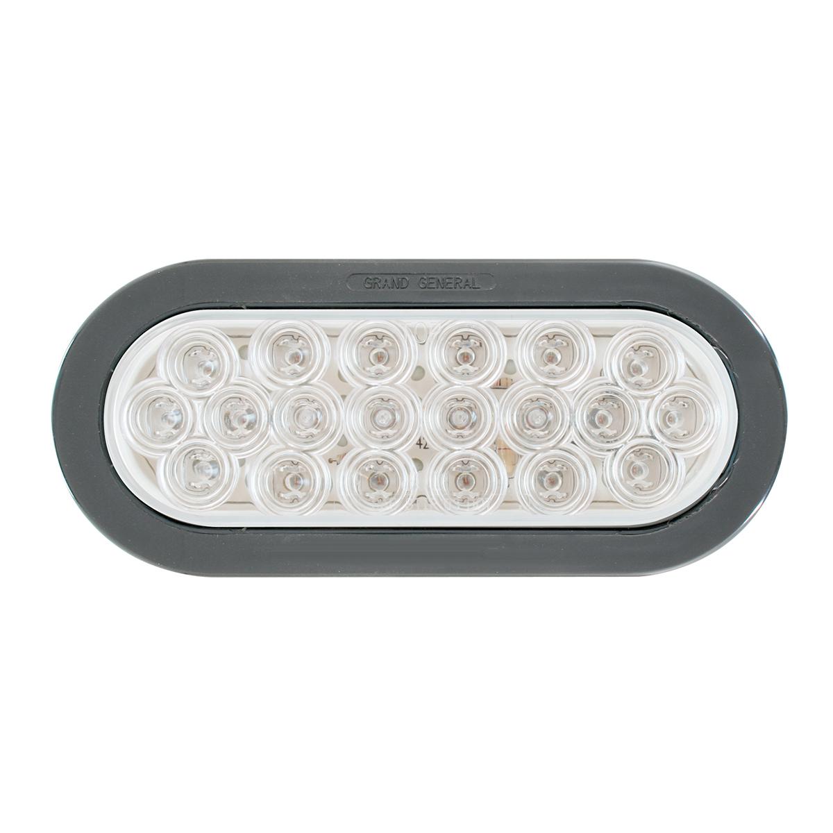 Oval Fleet LED Light w/ Black Rubber Grommet