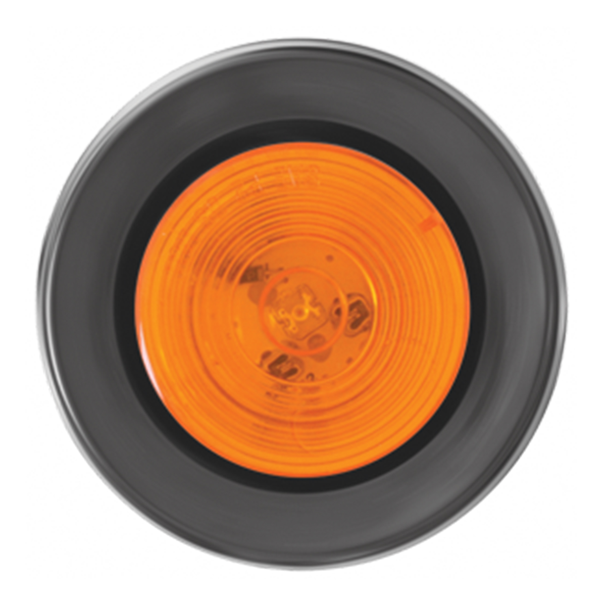 "76435 2"" Fleet LED Marker Light with Black Rubber Grommet"
