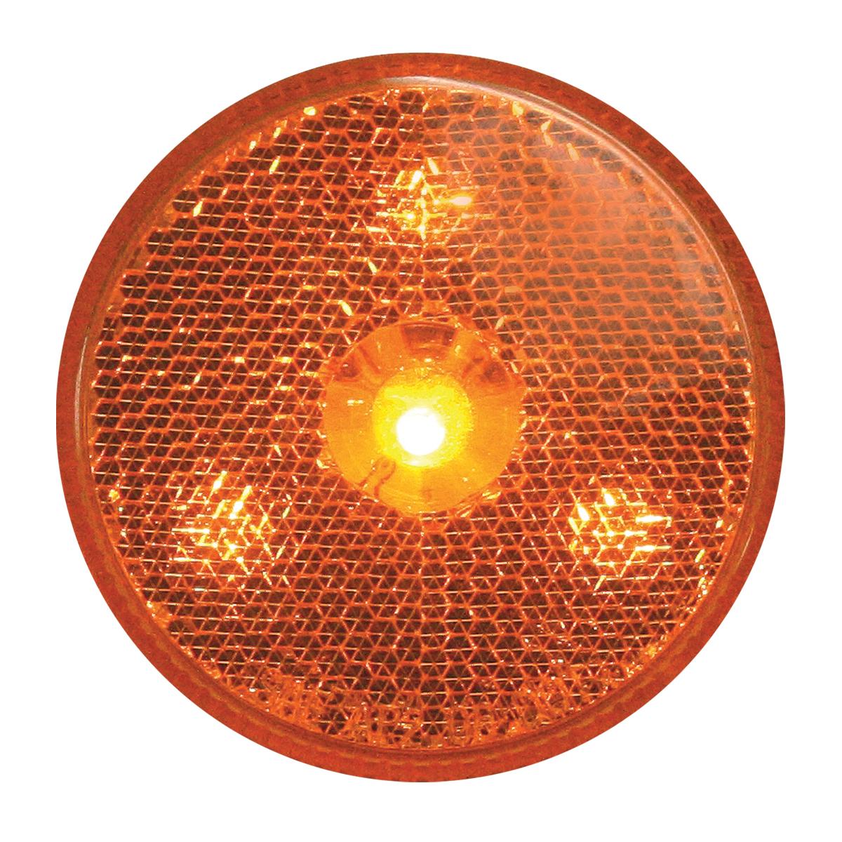 "76970 2.5"" Reflector Style LED Maker Light in Amber/Amber"