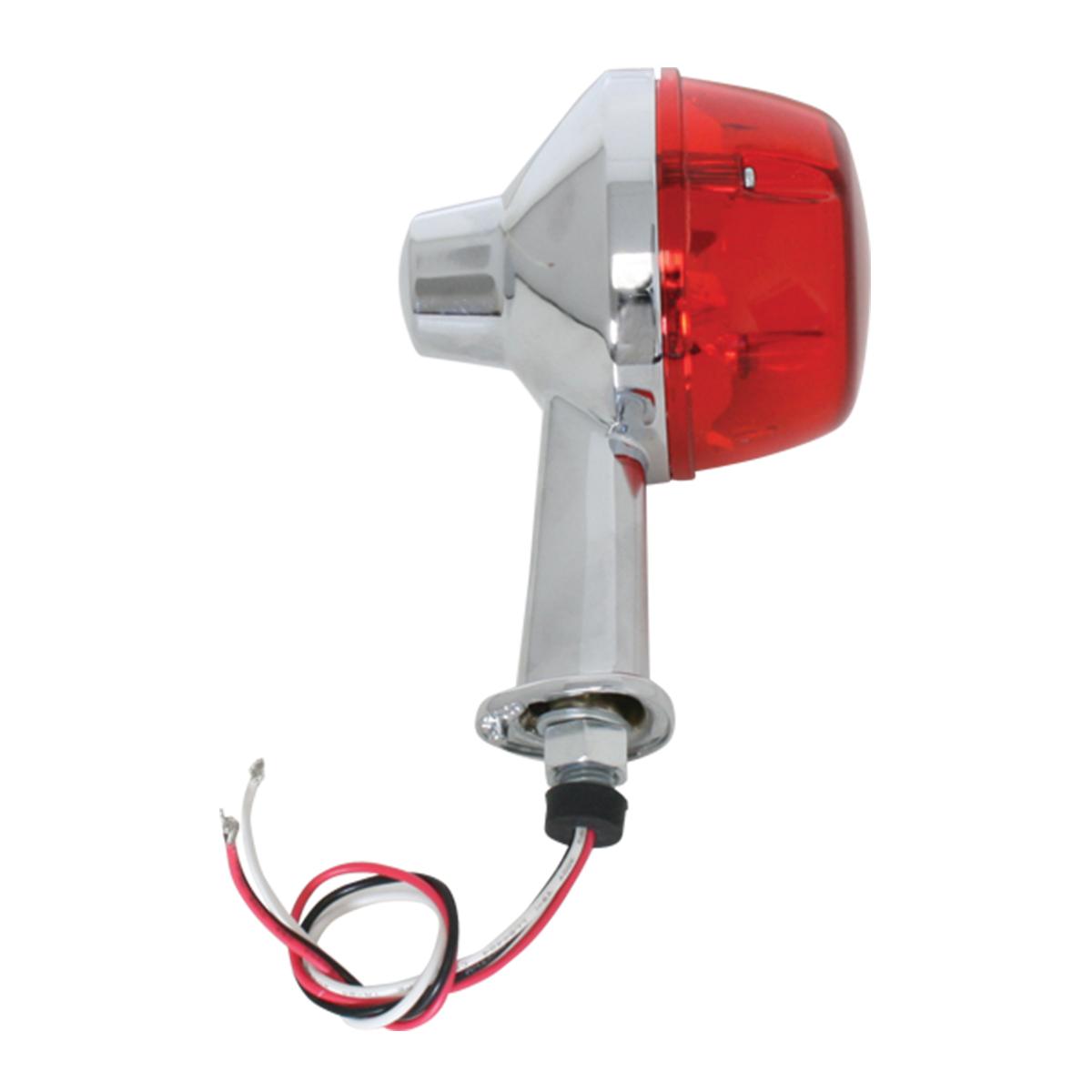 Single Face Honda Spyder LED Pedestal Light in Red/Red