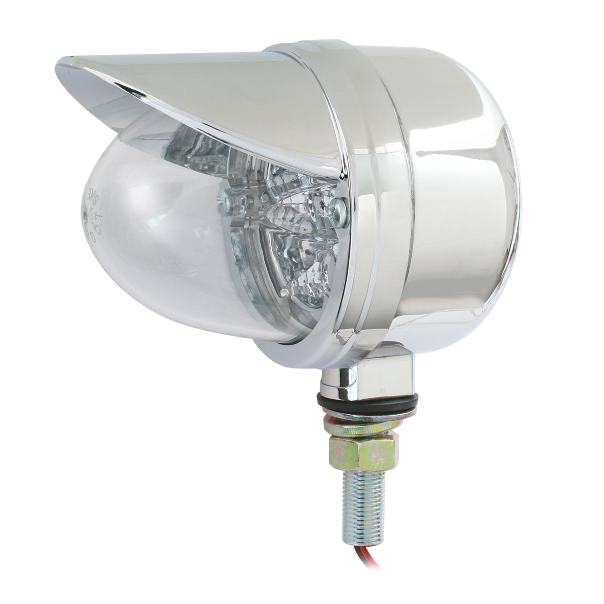Single Face Spyder LED Pedestal Light in Clear Lens