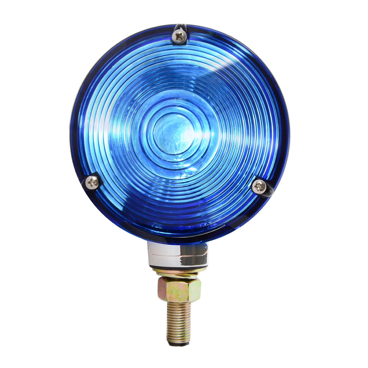"#80503 4"" Single Face Pedestal Blue Light"