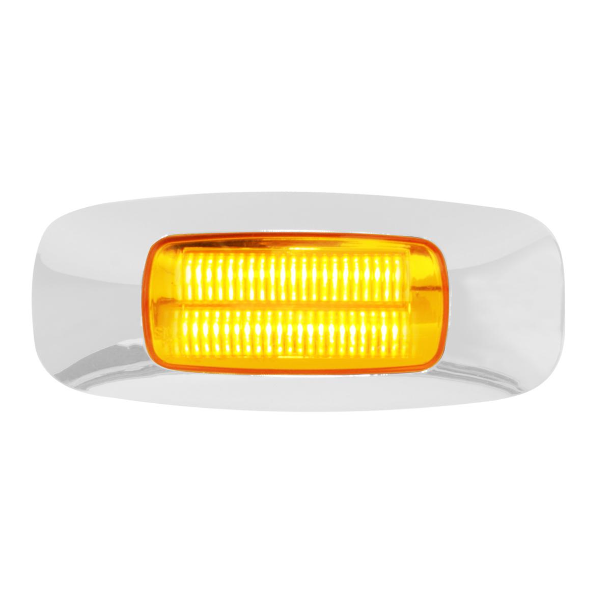 """74821 3.5"""" Rectangular Prime LED Marker Light in Amber/Clear"""