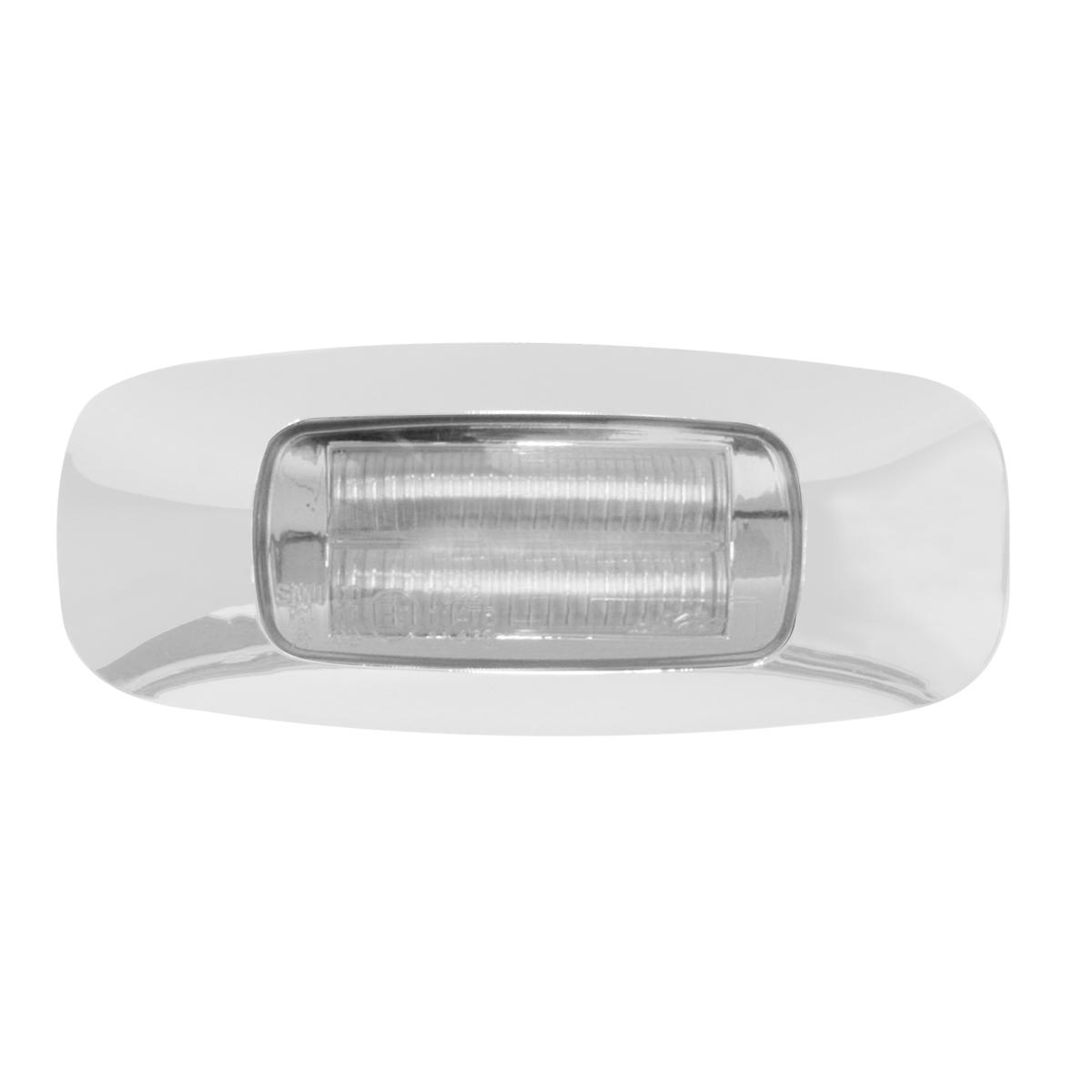 """3.5"""" Rectangular Prime LED Marker Light in Clear Lens"""