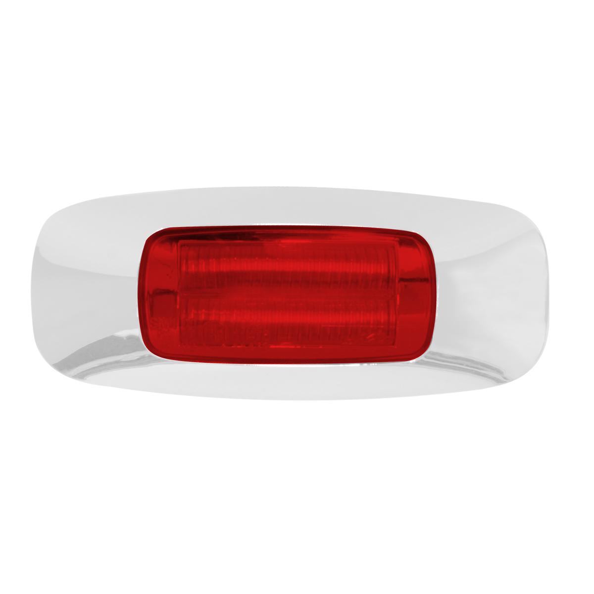 """74822 3.5"""" Rectangular Prime LED Marker Light in Red/Red"""