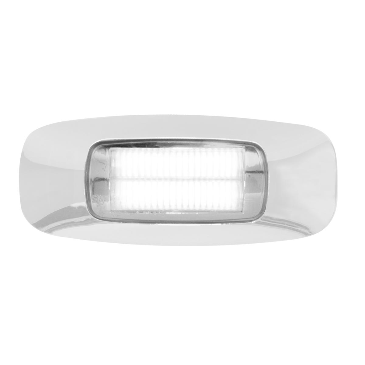 """74824 3.5"""" Rectangular Prime LED Marker Light in White/Clear"""