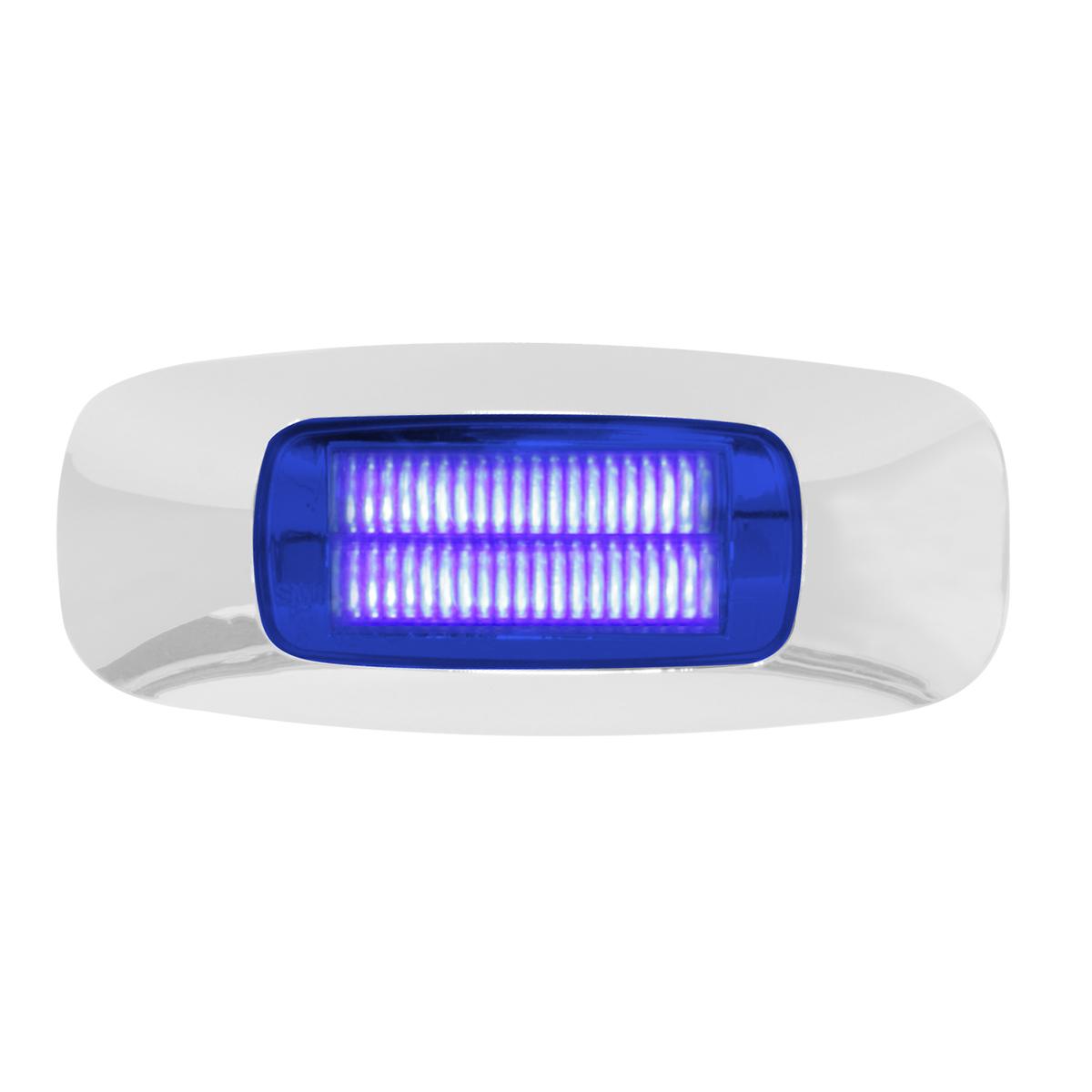 """74825 3.5"""" Rectangular Prime LED Marker Light in Blue/Blue"""