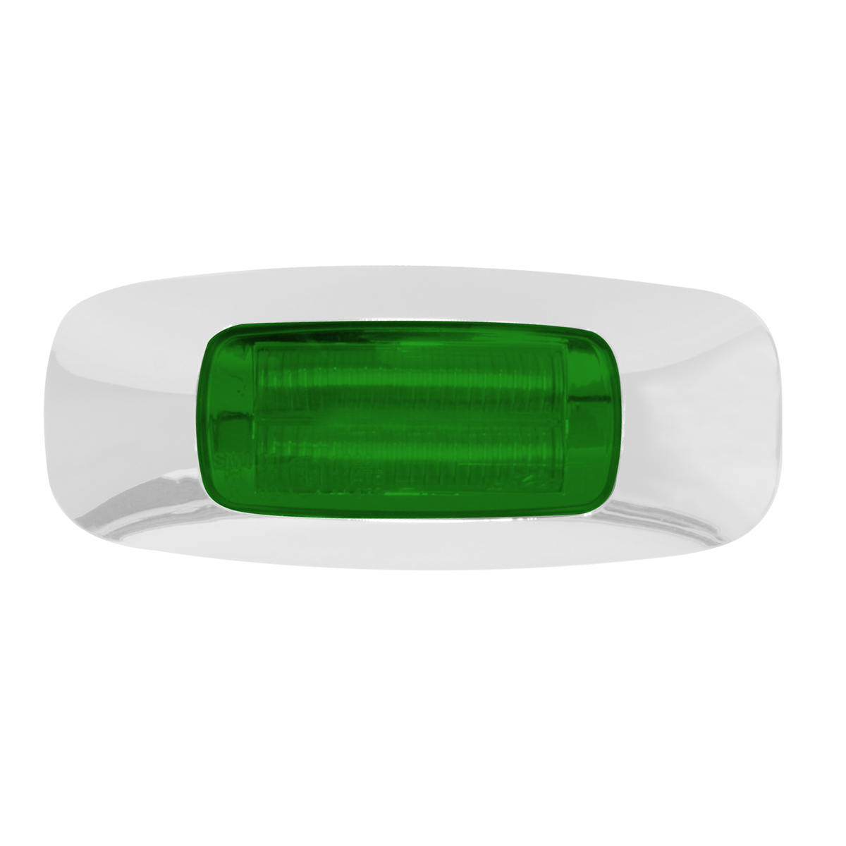 """74826 3.5"""" Rectangular Prime LED Marker Light in Green/Green"""