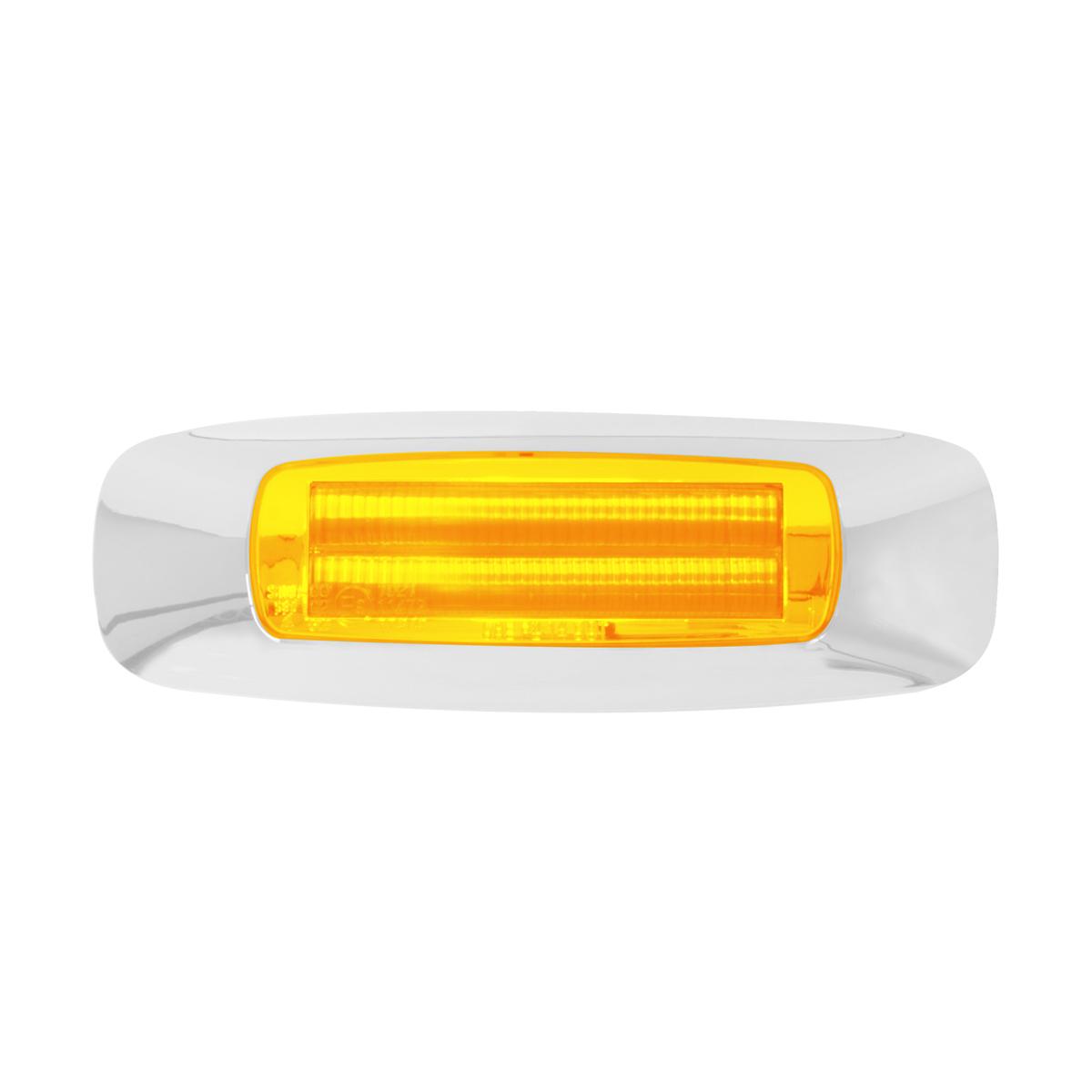 """74830 4-5/8"""" Rectangular Prime LED Marker Light in Amber/Amber"""
