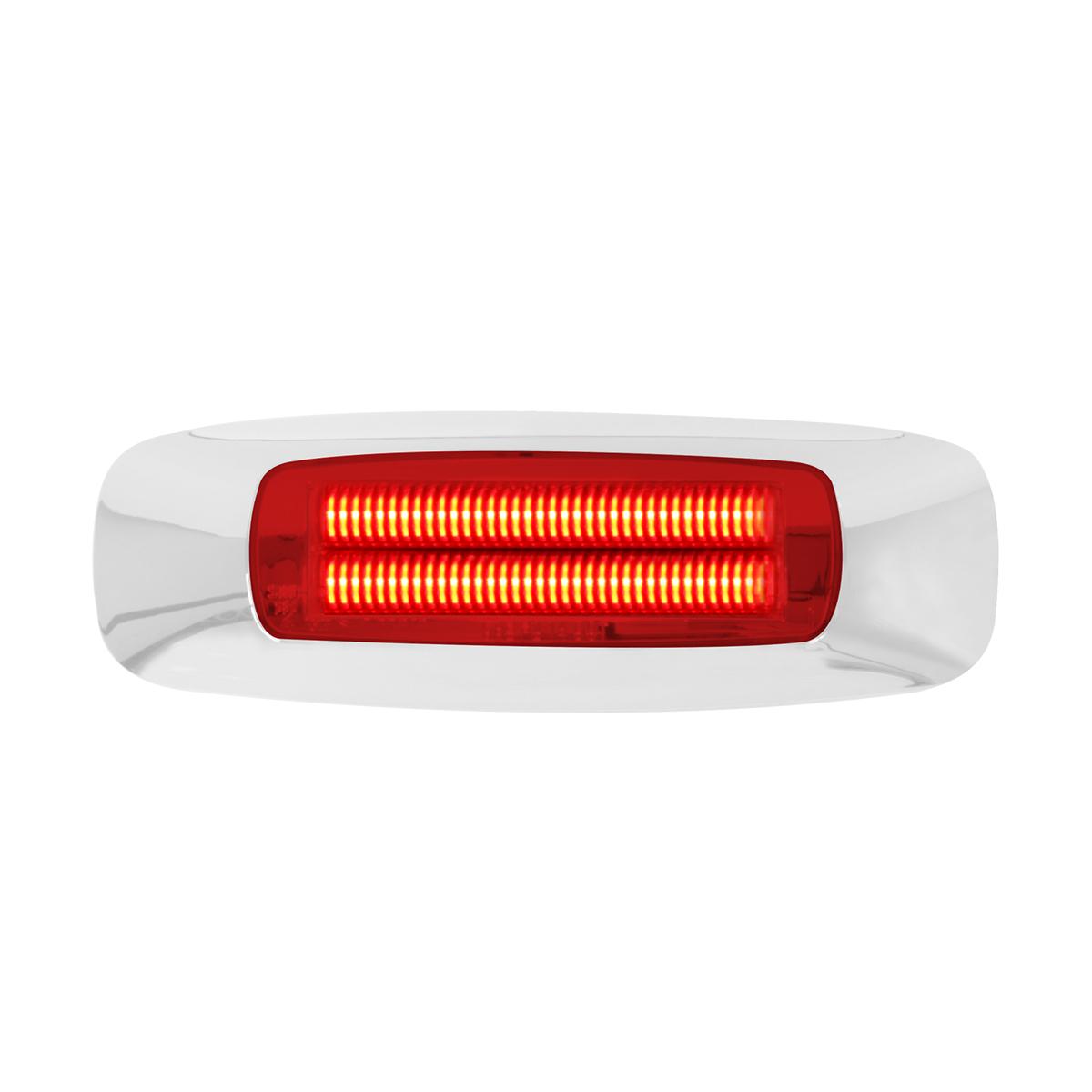 """74832 4-5/8"""" Rectangular Prime LED Marker Light in Red/Red"""