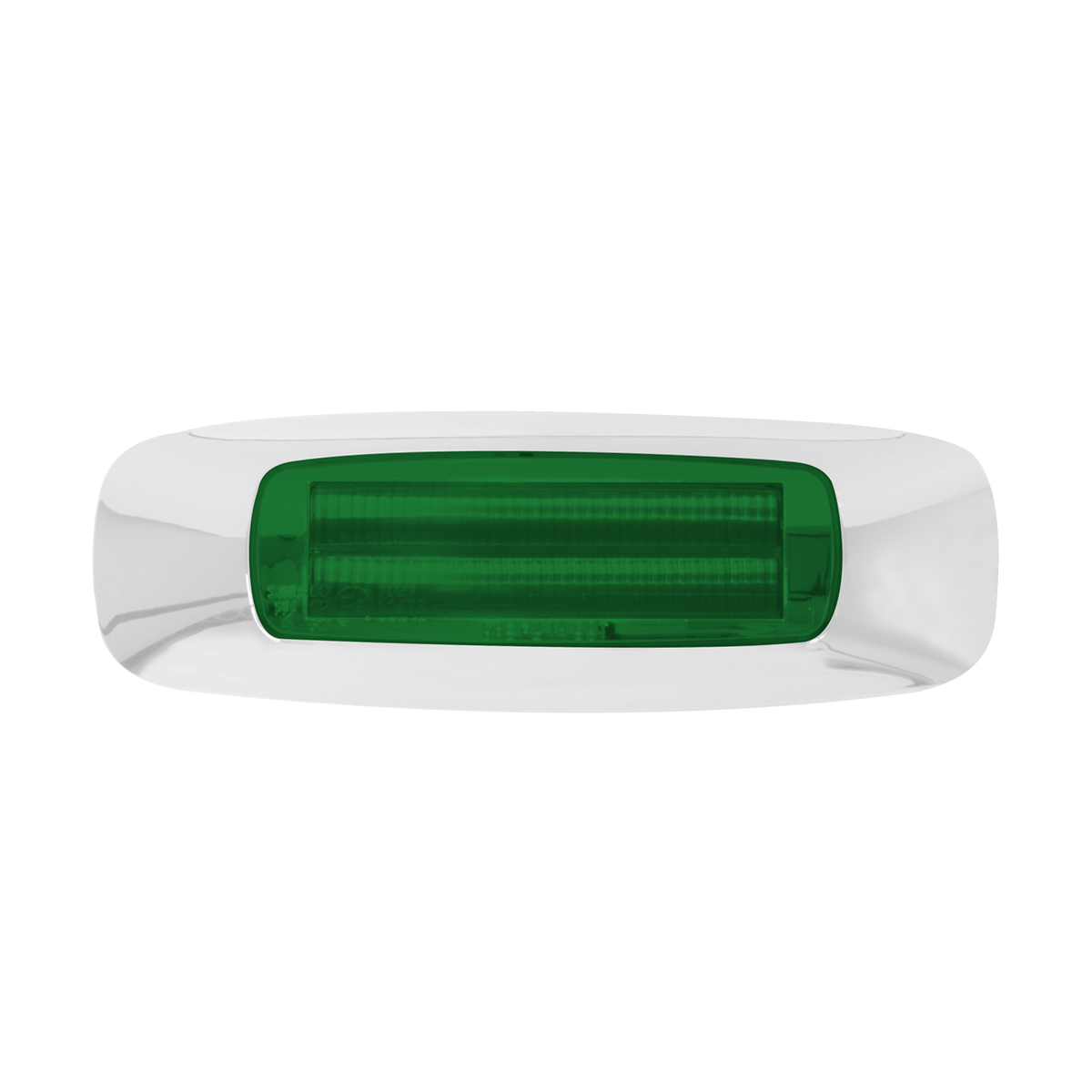 """74836 4-5/8"""" Rectangular Prime LED Marker Light in Green/Green"""