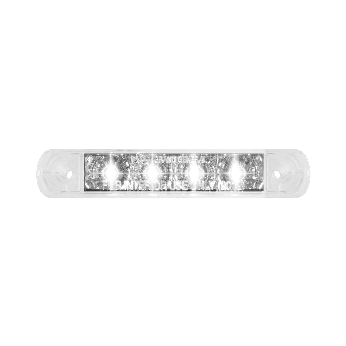 76084 Surface Mount Dual Function LED Light in White/Clear