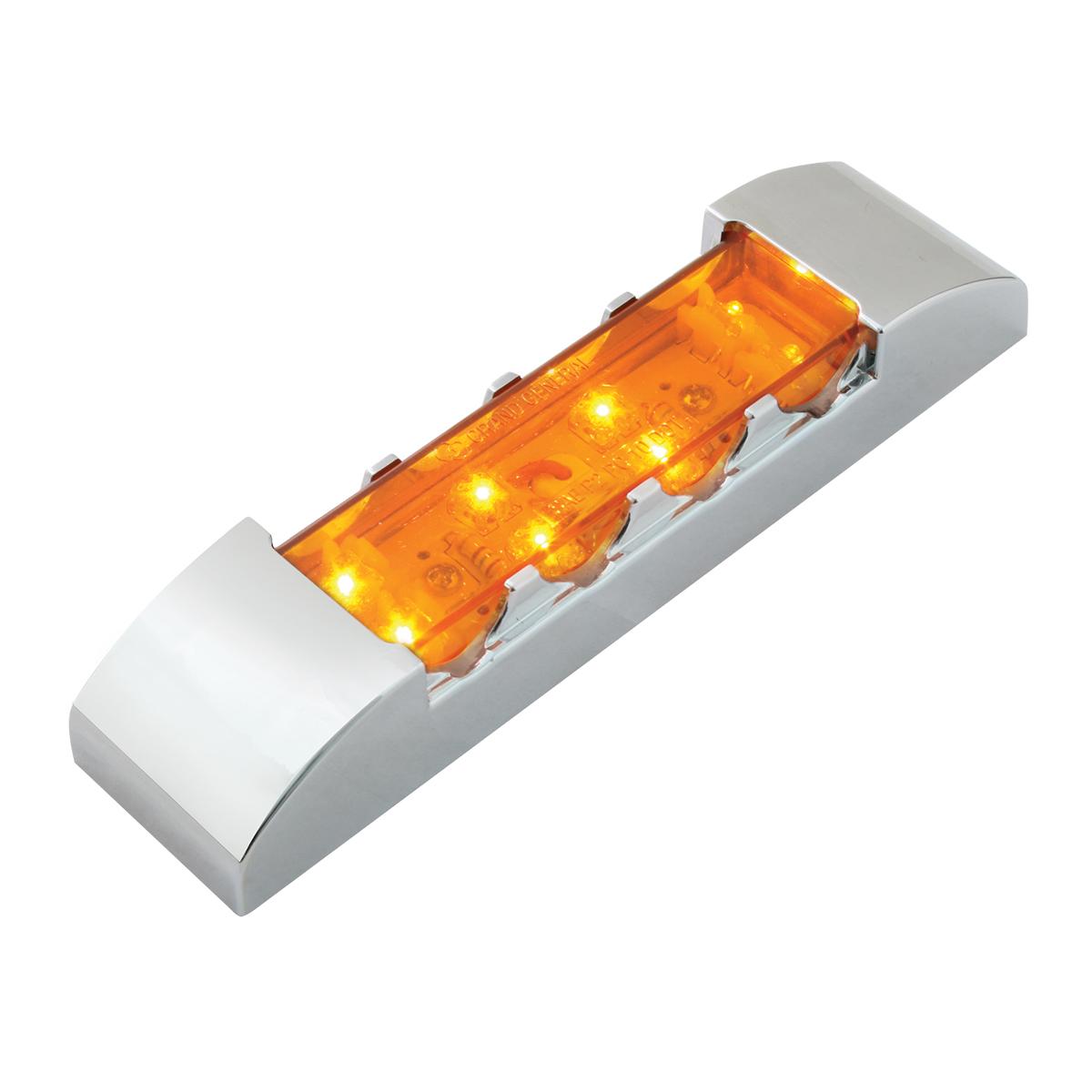 76180 Rectangular Wide Angle LED Light w/ Chrome Plastic Bezel