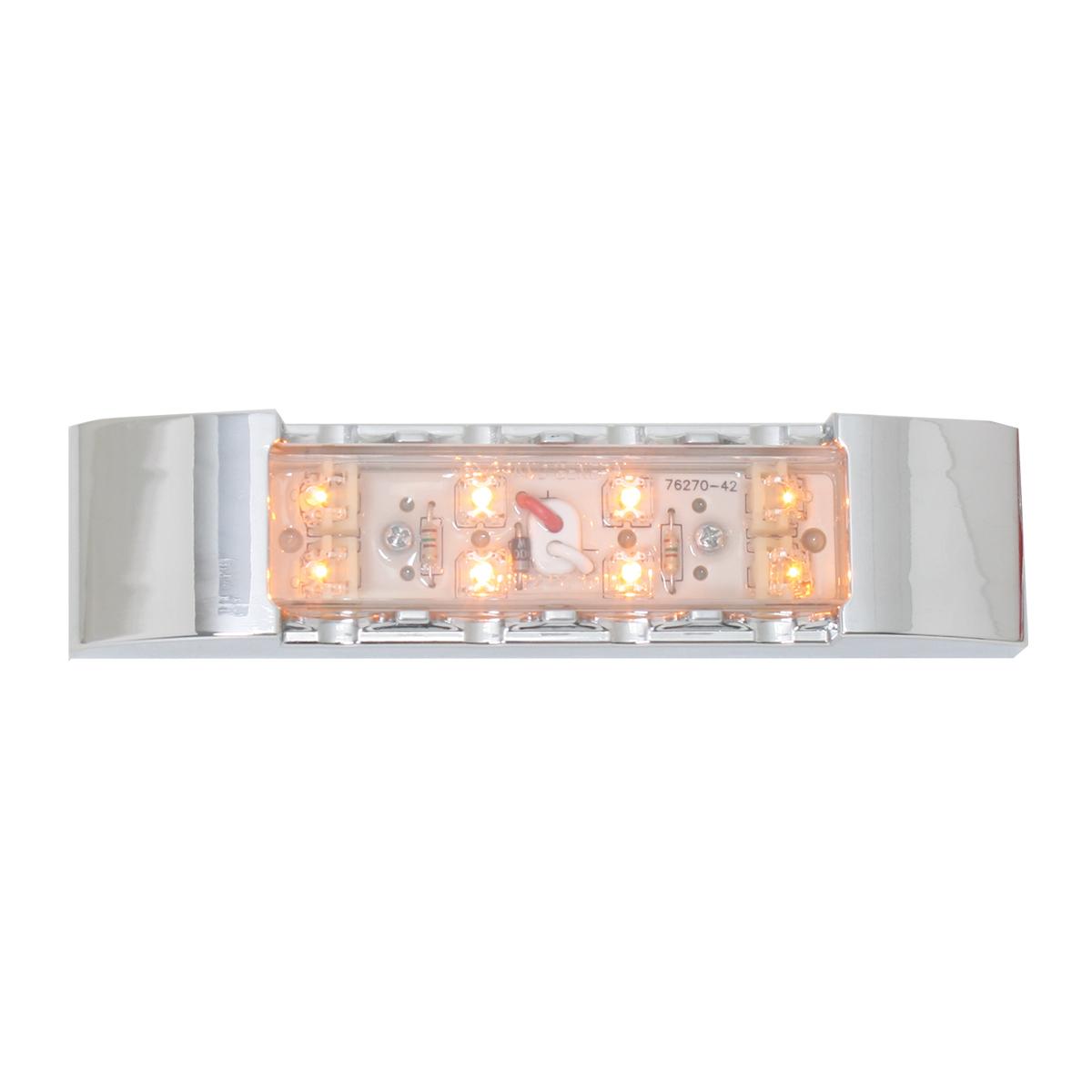 76181 Rectangular Wide Angle LED Light w/ Chrome Plastic Bezel