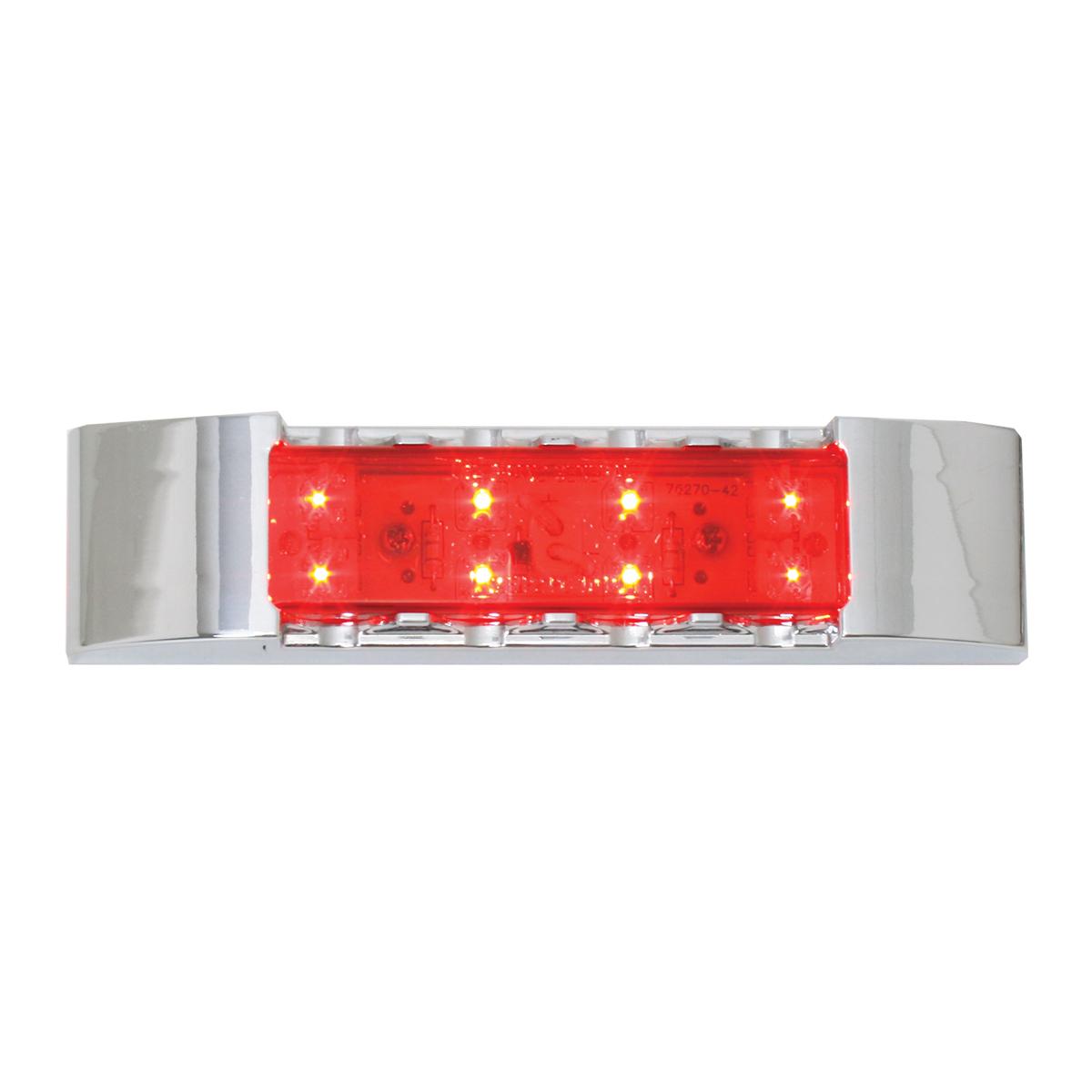 76182 Rectangular Wide Angle LED Light w/ Chrome Plastic Bezel