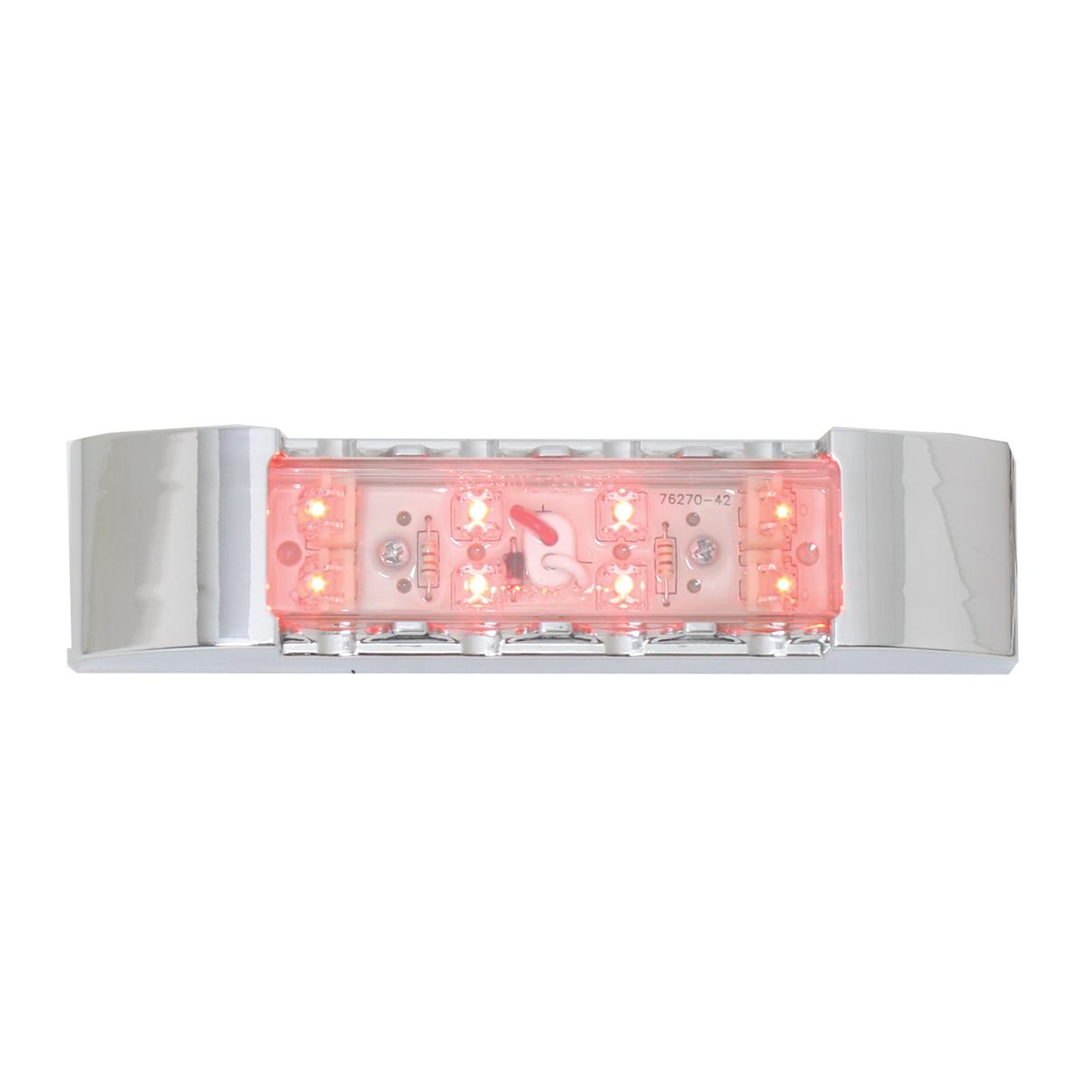 76183 Rectangular Wide Angle LED Light w/ Chrome Plastic Bezel