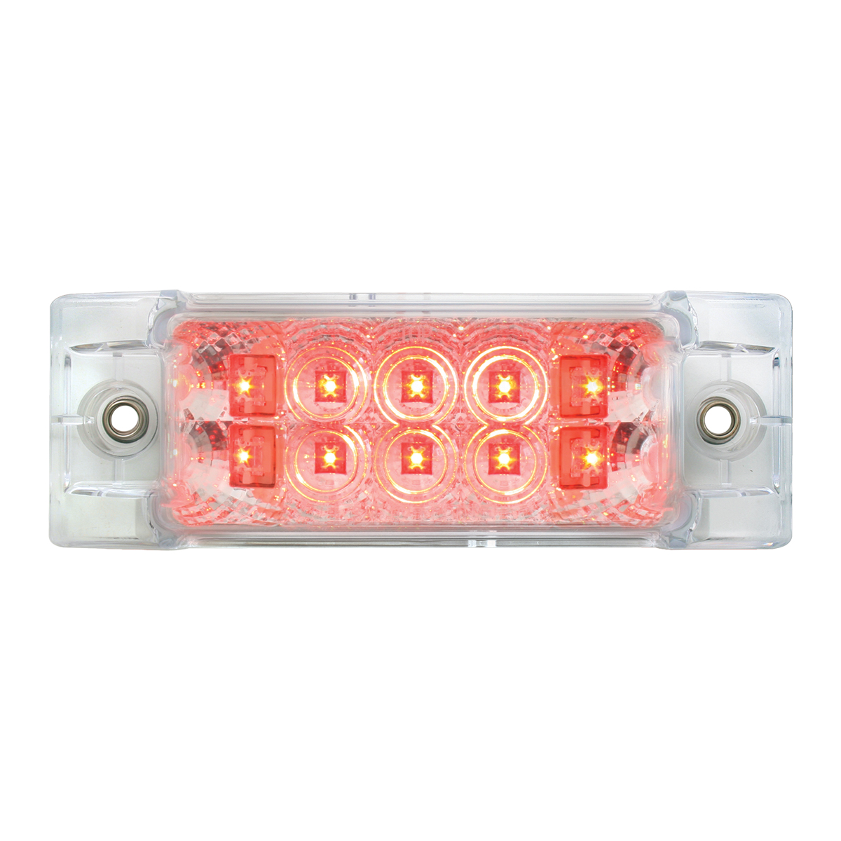 76213 Rectangular Wide Angle Spyder LED Marker Light in Red/Clear