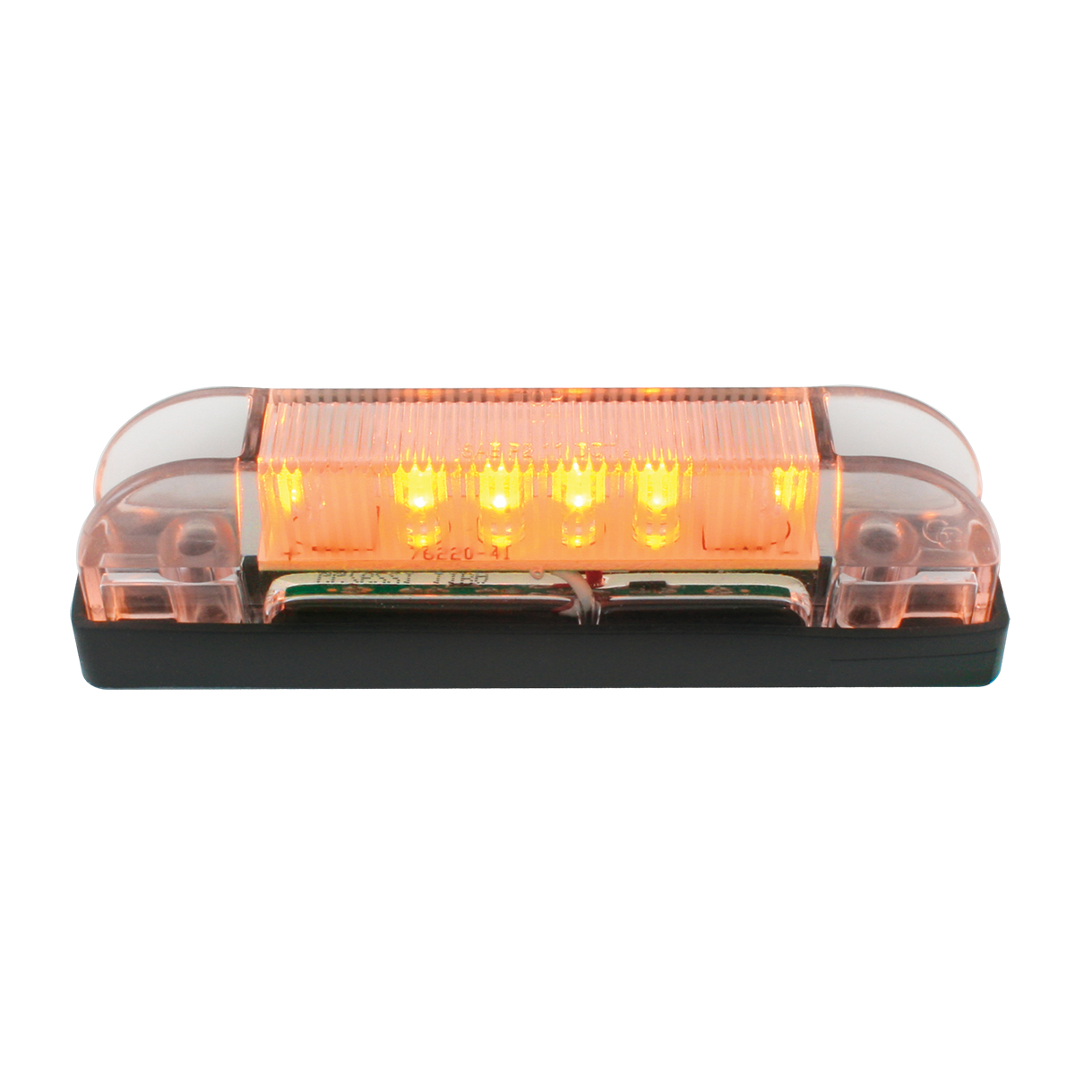 76221 Thin Line Wide Angle LED Marker Light in Amber/Clear