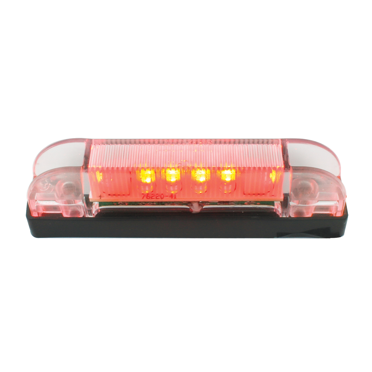 76223 Thin Line Wide Angle LED Marker Light in Red/Clear