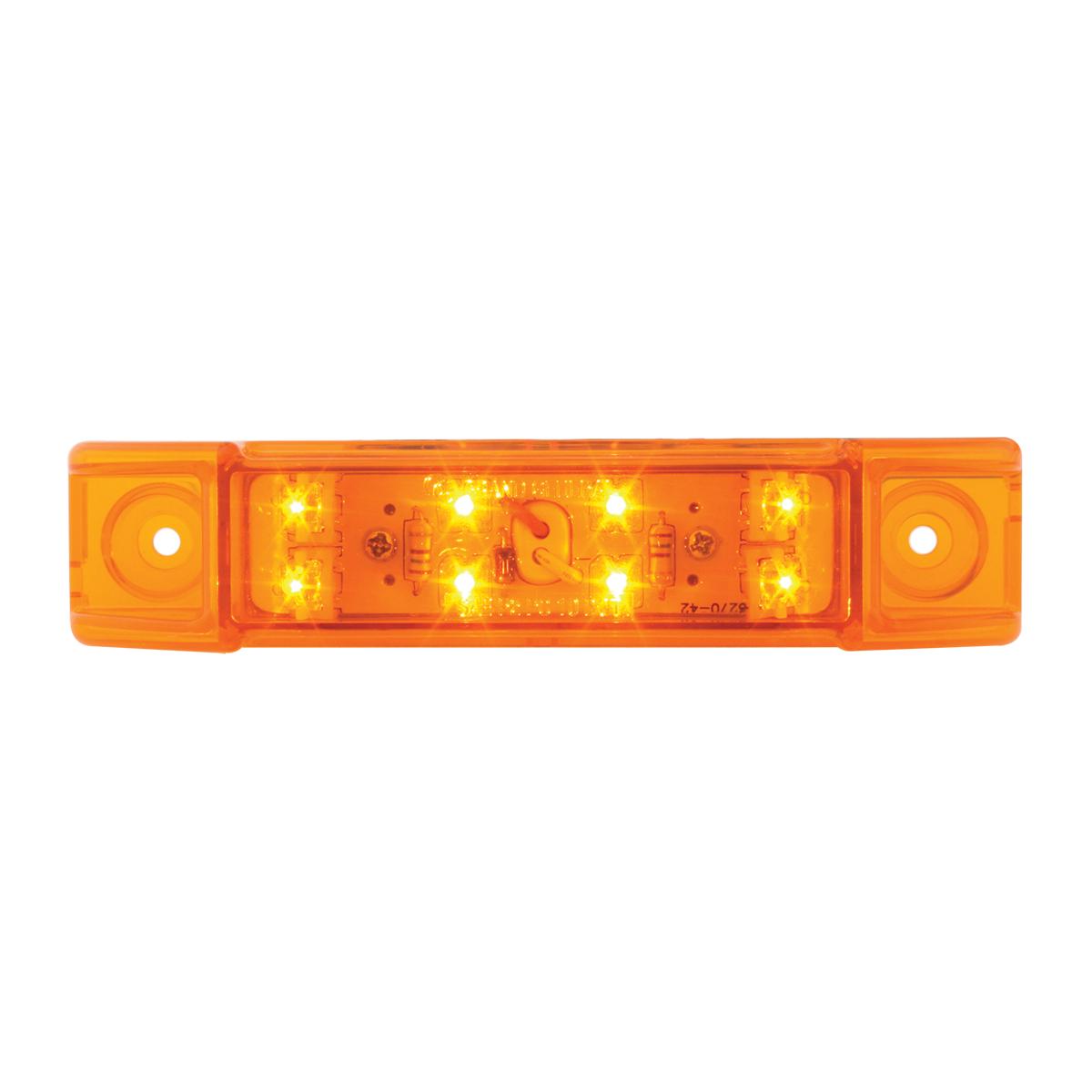 76260 Rectangular Wide Angle LED Light in Amber/Amber