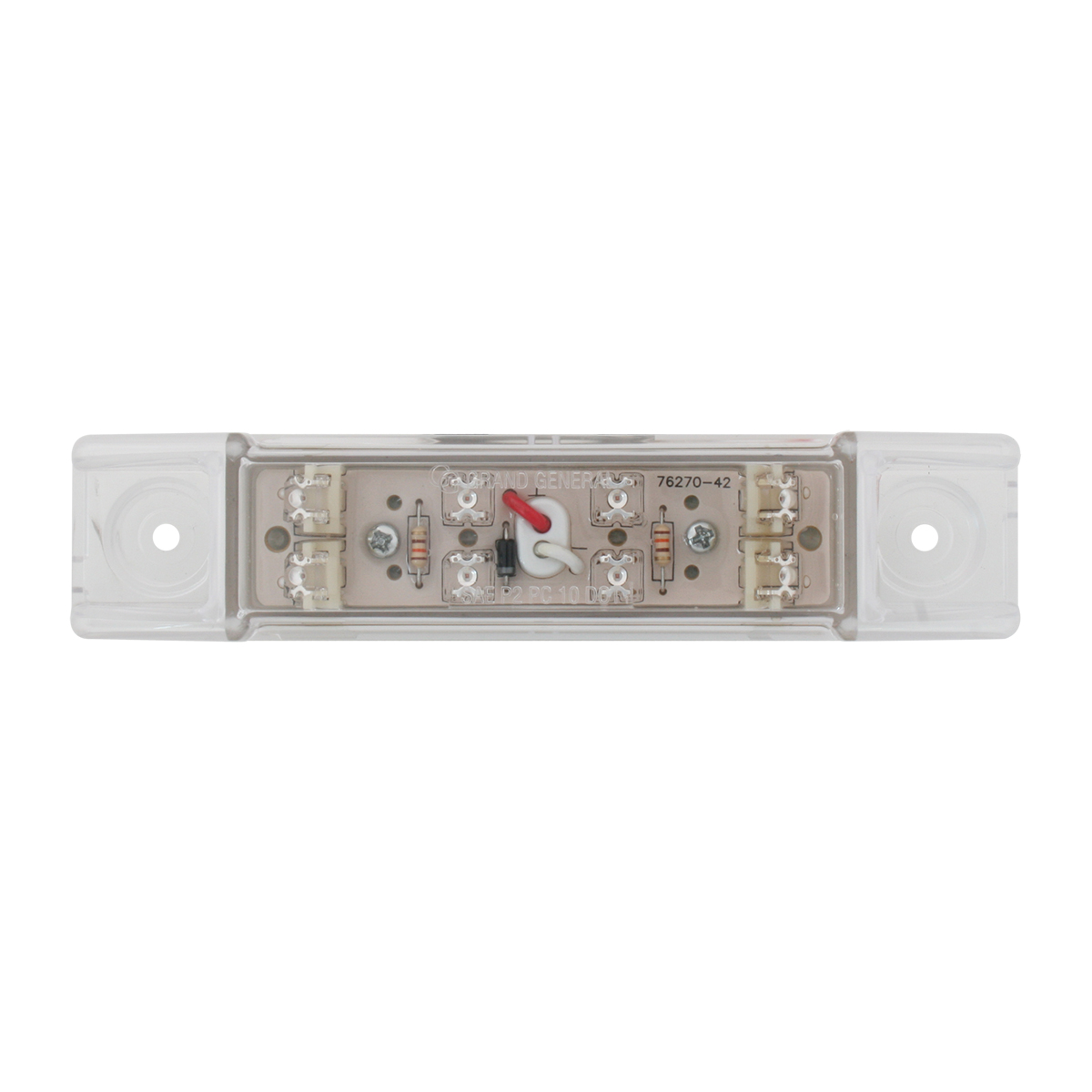 Rectangular Wide Angle LED Light in Clear Lens
