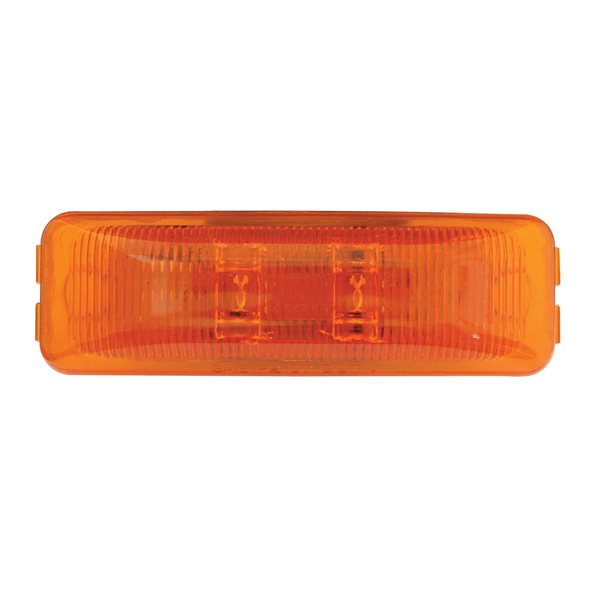 76400 Medium Rectangular Fleet LED Marker Light in Amber/Amber