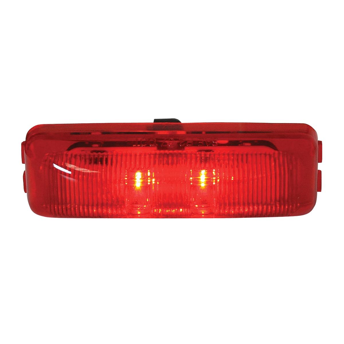 76402 Medium Rectangular Fleet LED Marker Light in Red/Red