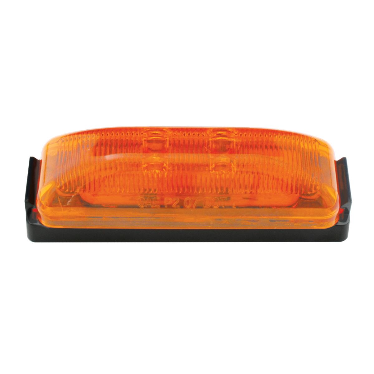 76405 Medium Rectangular Fleet LED Marker Light w/ Black Bracket