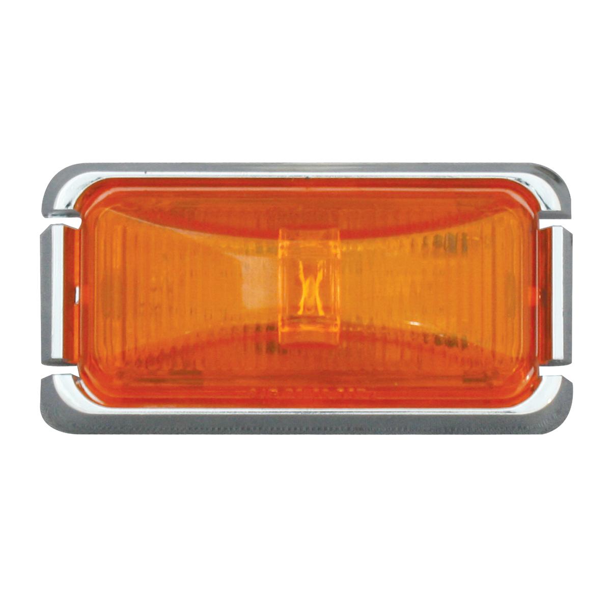 76415 Small Rect Fleet LED Light w/ Chrome Plastic Bracket